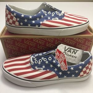 Vans Era Men's 12 Van Doren Stars Stripes Checker NWT